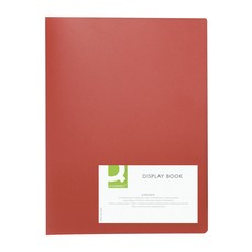Q-Connect Display Book 10Pocket Red