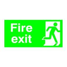 FireExit Running Man Right 150x300 PVC