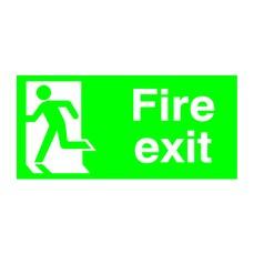 FireExit Running Man Left 150x300 PVC