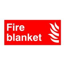 Fire Blanket Symbol/Flame 100x200 PVC