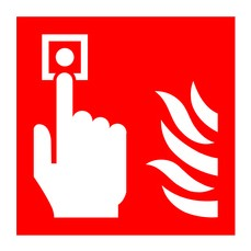 Fire Alarm C Point Symbol 100x100 PVC
