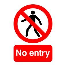 Sign No Entry A5 PVC ML01751R