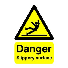 Danger Slippery Surface A5 S/A HA16451S