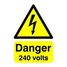 Danger 240 Volts A5 S/A HA07951S