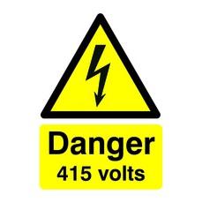 Danger 415 Volts A5 S/A HA08151S