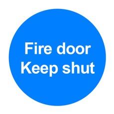 Fire Door Keep Shut 100x100mm PVC