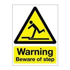 Beware of Step 200x150mm S/A W66A/S