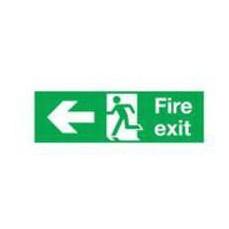 Fire Exit Left 150x450mm S/A E97A/S