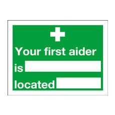 Your FirstAider Is 150x200mm S/A E42A/S