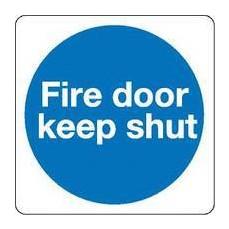 Fire Door Keep Shut 100x100mm S/A KM14AS