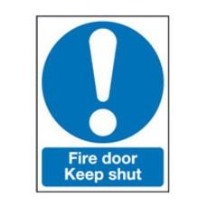 Fire Door Keep Shut 150x50mm S/A FR06912