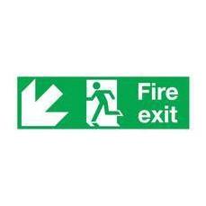 Fire Exit Man Arw D/Lft 15x45 S/A E97S/R