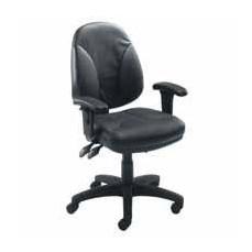 Arista Concept Leather Medium Back Operators Chair Black KF0