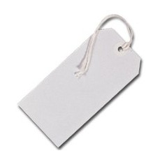 Tags Strung 1CKL White Single Pk75 8010